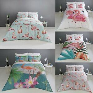 Impresion-Digital-Flamingo-Cubierta-Del-Edredon-Edredon-Con-Fundas-Juego-De-Cama-Todos-Los-Tamanos