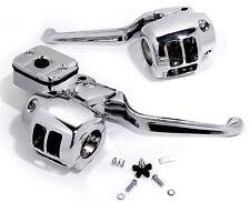 Armatures de poignées Kit pour guidon Chrome Harley Davidson Evo Twin Cam 96-06