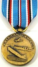 US WWII Mini Medal American Campaign Military Insignia Badge Pin Uniform NEW!