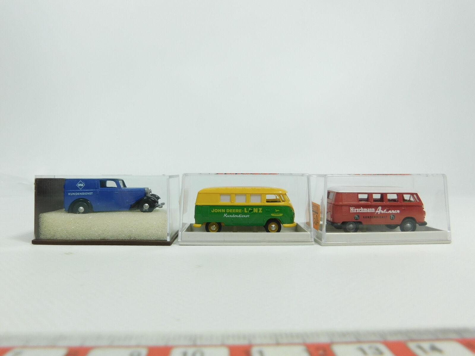 Bd385-0, 5  3x Brekina 1 87 Modèle  1325 dkw31504 VW Hirschmann 31505 Deere Neuw