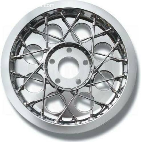 New Custom Chrome lace pulley cover fits Harley-Davison #408