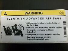 OEM GENUINE MERCEDES BENZ SUN VISOR AIR BAG WARNING STICKER