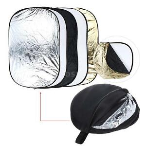 Andoer 60*90cm 5 in 1 Multi Collapsible Studio Light Reflector +a Zippered Bag