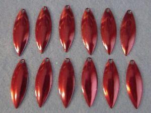 Lot of 12 Worth Mfg #3.5 Colorado Nickel Spinnerbait Blades No 3 1//2