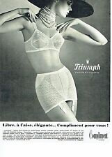 PUBLICITE ADVERTISING 126  1969   gaine Triumph  sous vetements  Compliment