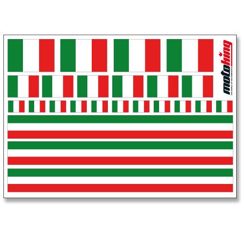 ITALIEN AUFKLEBERFLAGGEN STICKERHELM FAHRRAD MODELLBAU BOBBYCAR AUTO