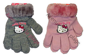 7cfe14ad194 Gants Hello Kitty fausse fourrure extensibles achat gant fille ...