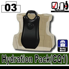 Hydration Pack (W98) Army Tactical Equipment compatible w/toy brick minifigures