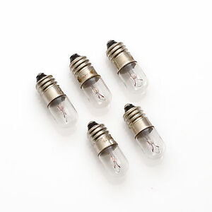 5 X 7v 0,7w 100ma 0,1a E10 10x28/poire Lampe/lamp Bulb/échelles Lampes-afficher Le Titre D'origine