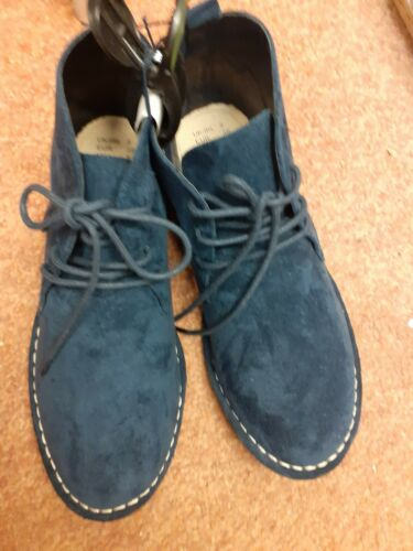 Boys Navy Suede Effect Lace Up Boot Size 1