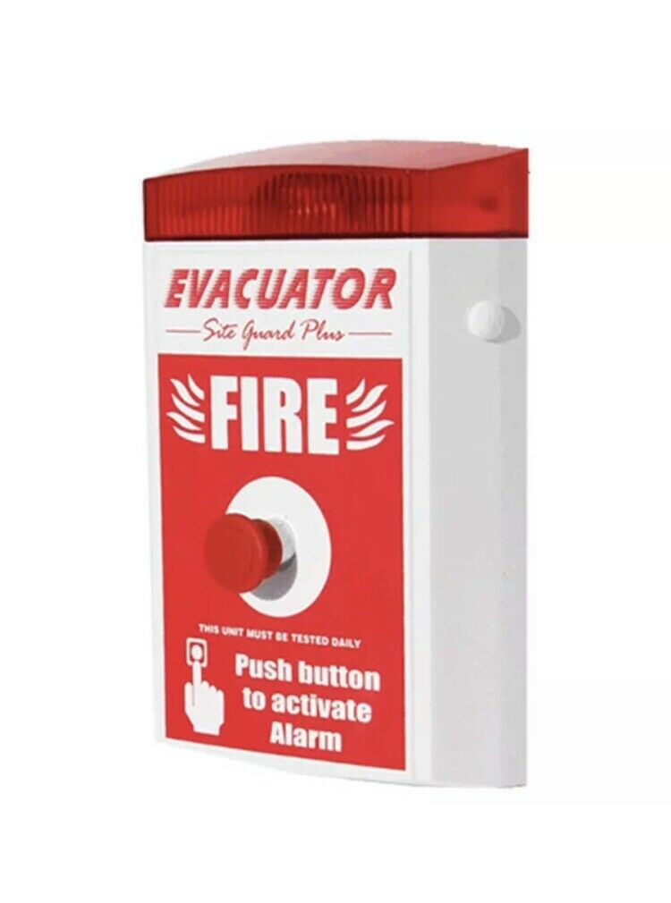 Sitio de construcción alarma de incendio-Evacuador de sitio Guardia Plus Botón Pulsador de alarma
