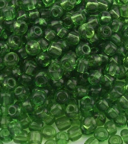 Rocailles Perlen 4mm 6//0 Grün Transparent 450g Glasperlen Schmuck A234
