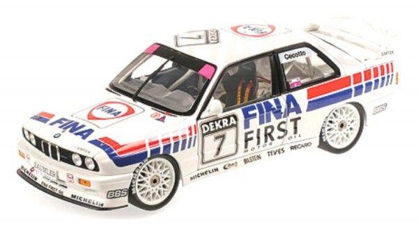 BMW m3 (e30) No. 7 équipe FINA-BMW-DTM 1992 DOUBLE WINNER Brno (Johnny CECOTTO)