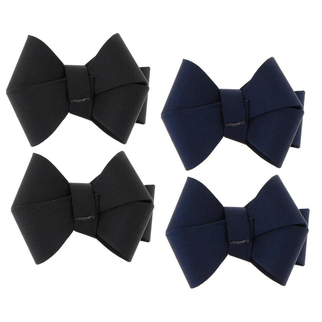 4pcs Shoes Clips Bowknot Design Shoe Decorative Accessory Craft Decoration