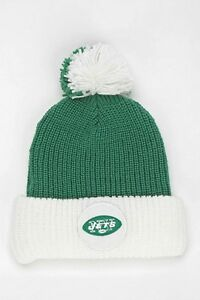 4482a032d16  28 NWT Mitchell   Ness New York Jets Pom Pom Beanie Hat