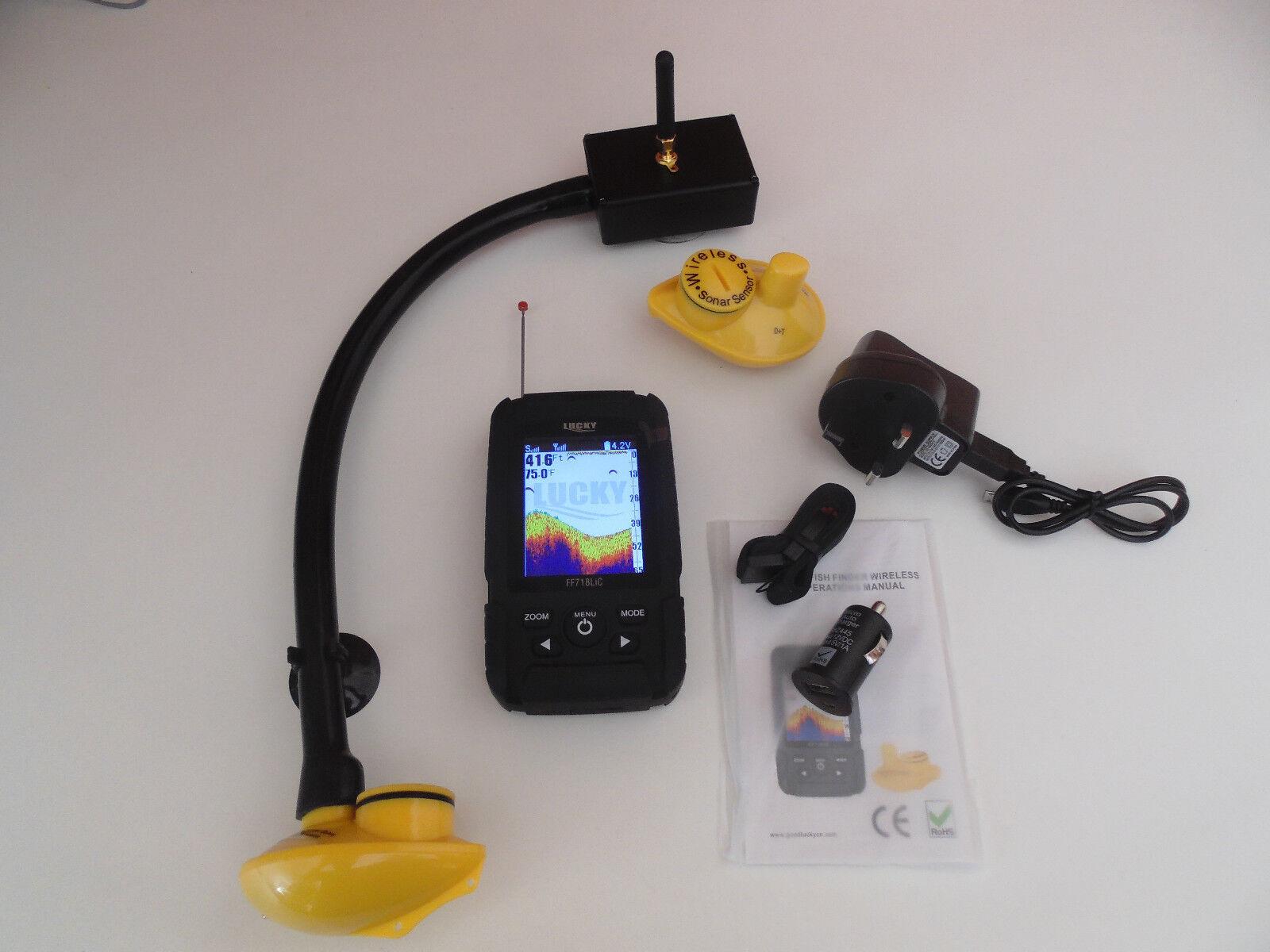 Coloreee Esca Barca Wireless Fish Finder, oltre 150m gamma, 2 sensori, regalo gratuito