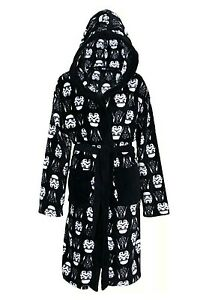 Disney Star Wars Hooded Dressing Gown Bath Robe Black