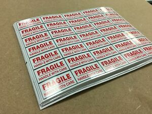 Large Vinyl Fragile StickersPlease Handle With CareSelf Adhesive Label