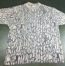 True Vintage 1989 Joe Camel Cigarettes TreBark Promotional Camouflage T-Shirt L
