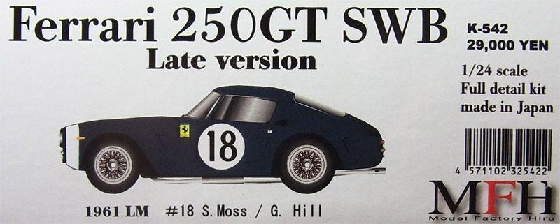 Mfh Modelo Factory Hiro 1 24 Ferrari 250gt Swb Completo Detail Kit