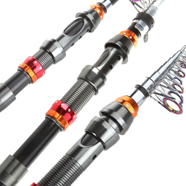 2.1M/6.9FT Portable Carbon Fiber Telescope Fishing Rod Travel Spinning Pole