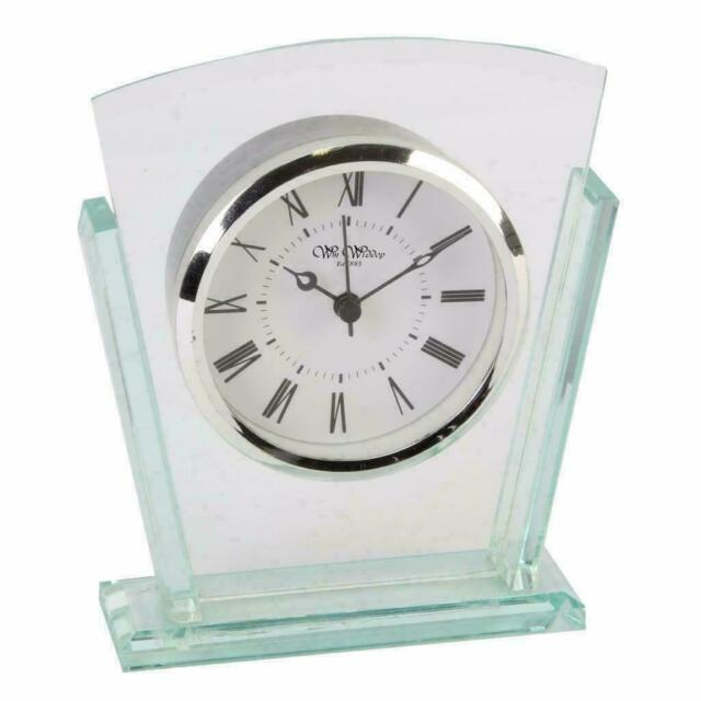 Art Deco Style Double Layered Glass Mantle Clock