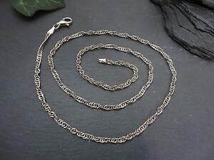 Schoene-925-Silber-Kette-Collier-Zopfkette-Gedreht-Funkelnd-Halskette-Elegant-Top