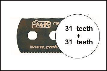 beidseitig grobe Zähne Neu CMK 129-H1003 Sägeblatt