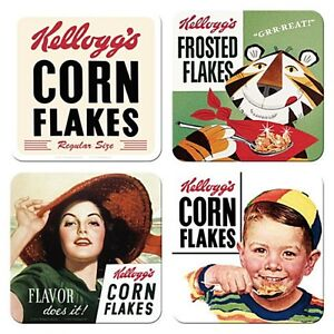 Kelloggs-Cereals-set-of-4-drinks-coasters-na-REDUCED-TO-CLEAR