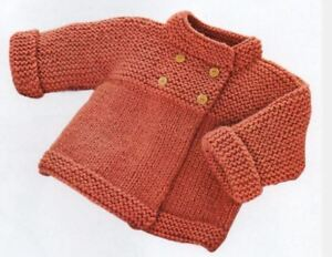 Knitting Pattern Baby Girl S Bulky 12 Ply Jacket 3 24 Months 157