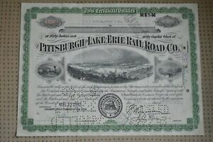 Vintage-Pittsburgh-Lake-Erie-Railroad-Co-Stock-Certificate