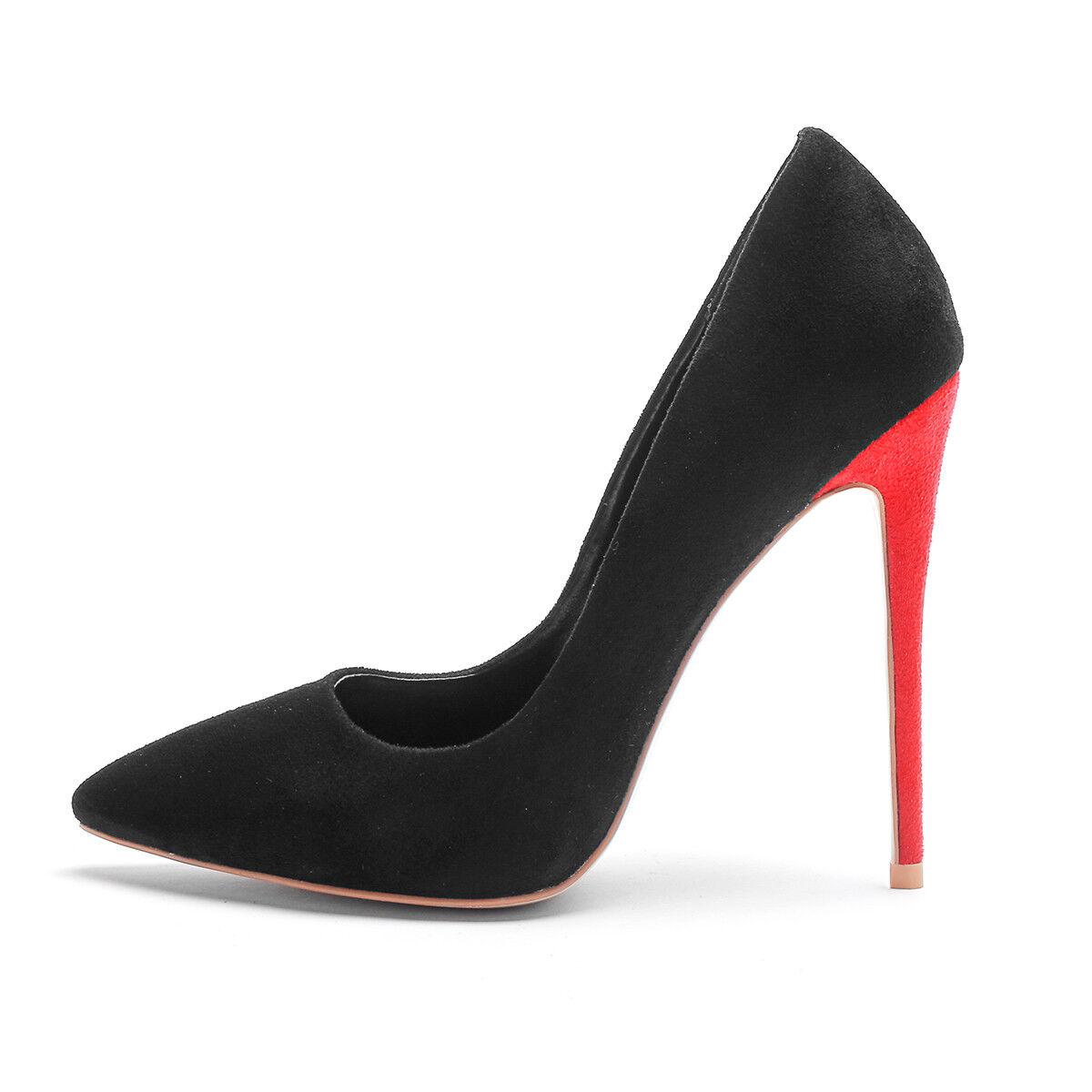 Loisirs faux-Daim Pantoufles soir elgant Pointu Chaussures Femmes Esvoiturepins Stiletto
