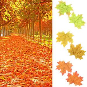 ... -Herbstblatter-Ahorn-Blatter-Laub-Kunstpflanzen-Tischdeko-Herbst
