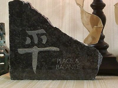 Kanji Peace Balance Home And Garden Stone Japanese Writing Chinese Character Ebay