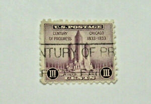 1933 Century Of Progress Chicago Iii 3 Cent Stamp Ebay