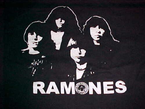 Ramones Johnny Joey Marky C.J. Pop Punk Rock Band Men's Black T-