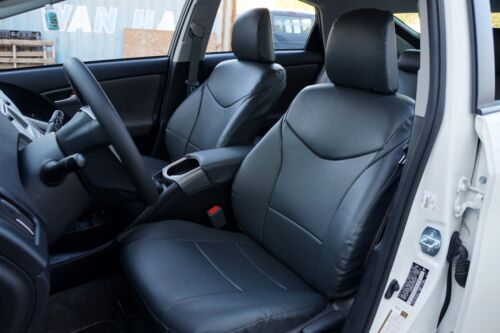 TOYOTA PRIUS 2010-2015 IGGEE S.LEATHER CUSTOM FIT SEAT COVER 13 COLORS AVAILABLE