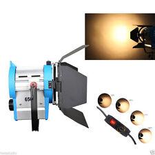 FS650 650W Foco Iluminación De Cine Fresnel de Tungsteno Studio Video Barndoor Dimma