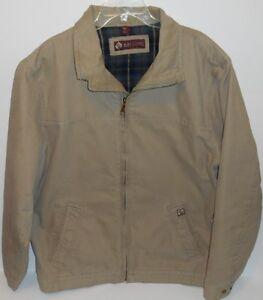 9546f818dfd Dri Duck Maverick Quarry Washed Canvas Plaid Lining Jacket Mens XLT ...