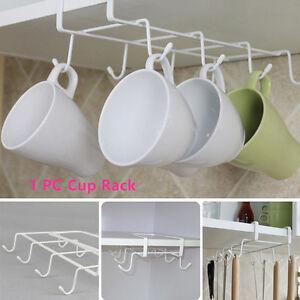 Kitchen Diy Under Shelf Cup Holder Mug Kitchen Storage
