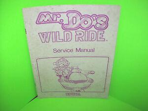 Do's Wild Ride Original Vintage Video Arcade Game Service Manual Volume Large Arcade, Jukeboxes & Pinball Arcade Gaming Universal Mr