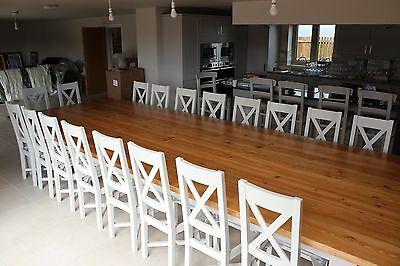 16 18 20 Seater Massive Chunky Dining Table 442cm X 172cm 44mm Top 140mm Leg Ebay