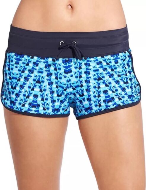 c961310274 Athleta Tie Dye Kata Swim Short BORA BORA Blue L for sale online   eBay
