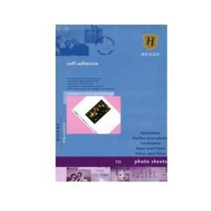 3 x HENZO 1612002 Fotoblätter weiß selbstklebend 230x297mm Fotokarton 30 Blatt