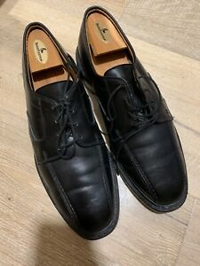 Allen Edmonds Hillcrest Mens Black Leather Bicycle Toe Lace Oxford Shoes Sz 9 D