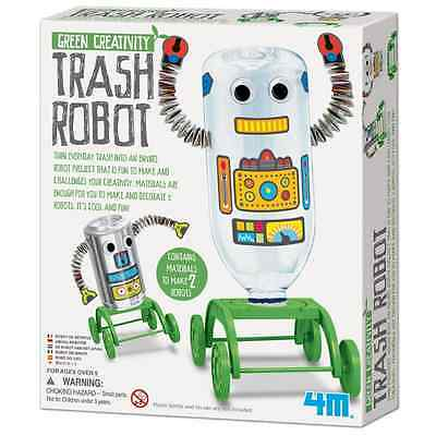 Trash Robot Kit 4M Green Science Toysmith 4611 Recycle Craft Science Fair