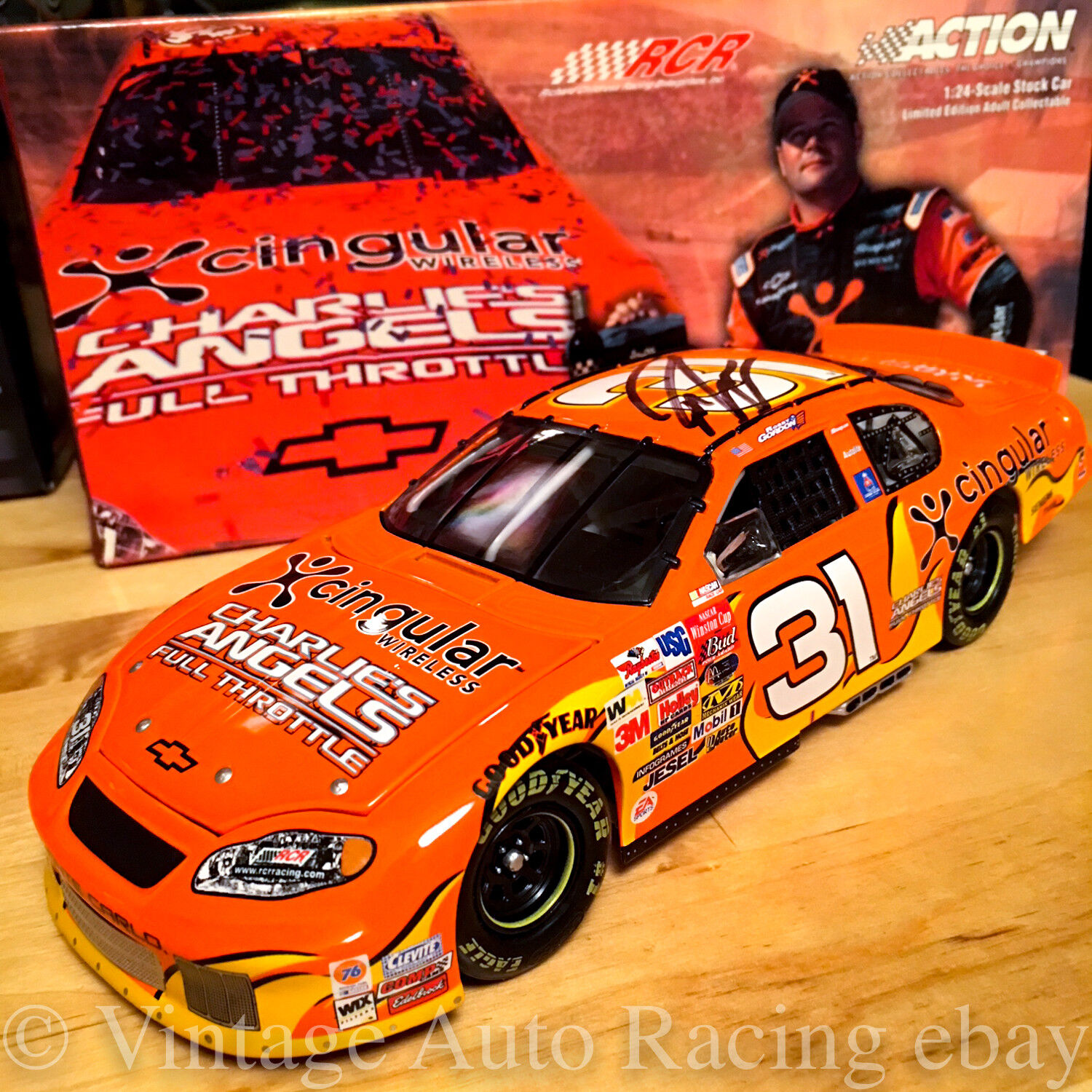 2003 Robby Gordon Signed Cingular Charlies Angels Sonoma Win Action 1 24 Diecast
