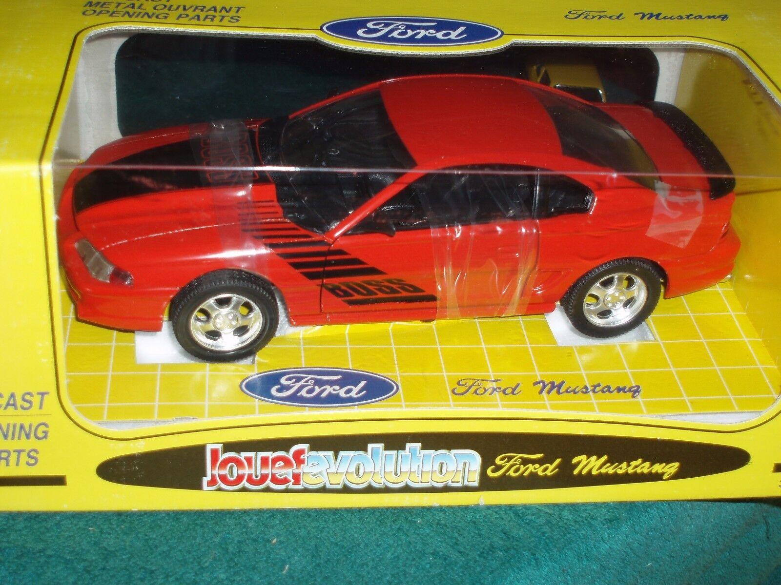 barato en alta calidad Jouef Evolution Evolution Evolution 1994 Ford Mustang Boss Coupe Rojo Negro 1 18  Venta en línea de descuento de fábrica