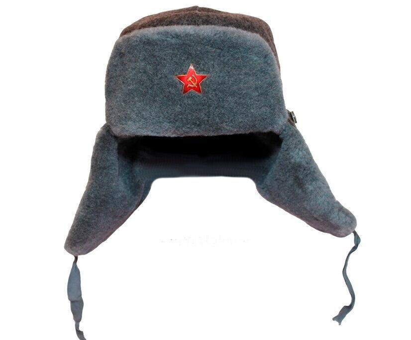 Trapper Bomber Aviator Russian Trooper Fur Earflap Winter Hat Mens size 62 3XL