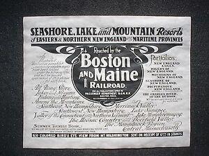 761L-RAILROAD-BOSTON-amp-MAINE-FISHING-HUNTING-RESORT-1904-ADVERT-REPRINT-11-034-X14-034